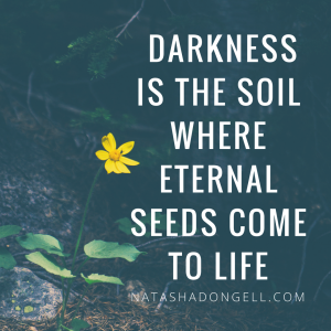 the darkness is the soil where eternal seeds come to life